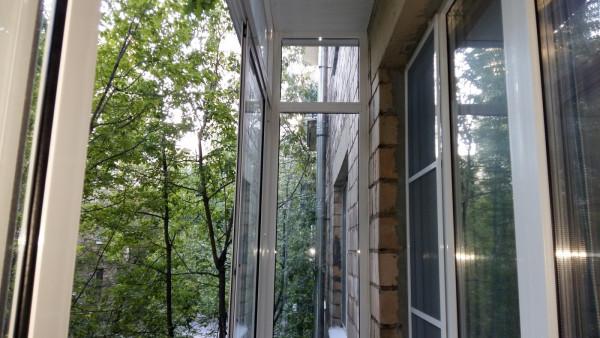 Остекление балкона алюминиевым профилем в московской области.